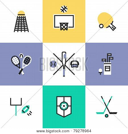 Popular Sports Pictogram Icons Set
