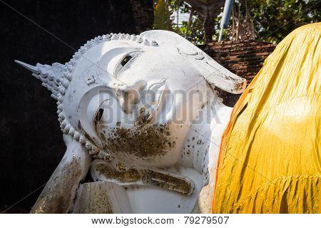 Reclining Buddha, Wat Yai Chai Mongkol, Ayutthaya, Thailand.
