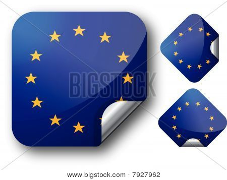 Sticker with EC flag