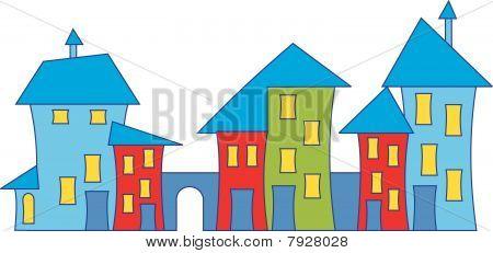 Cartoon town house