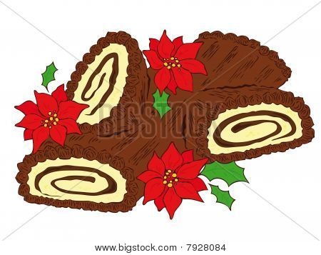 Chocolate yule log.