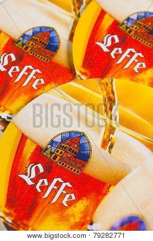 Beermats From Leffe Beer.