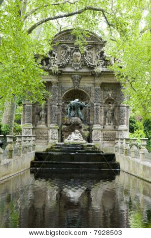 The Medicic Fountain Luxembourg Gardens Paris France