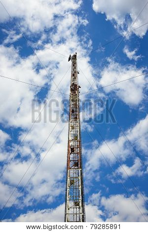 Radio Tower With Antennas