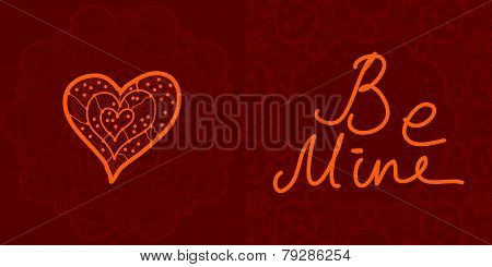 Valentine cards, vector design editable.