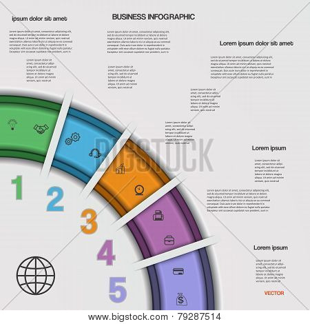 Infographic Business Process Or Workflow For Your  Project.