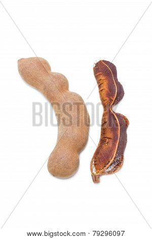 Tamarind Isolated On White.