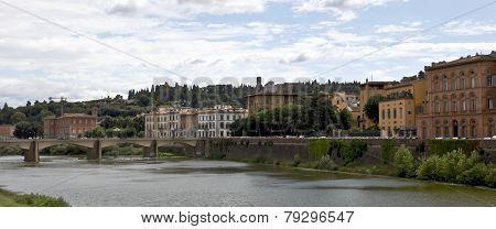 Arno River And Ponte Delle Grazie