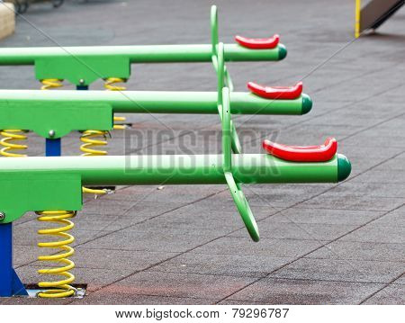 Close Up Of Colorful Seesaw.