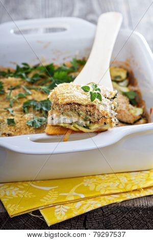 Vegetarian zucchini and ricotta bake