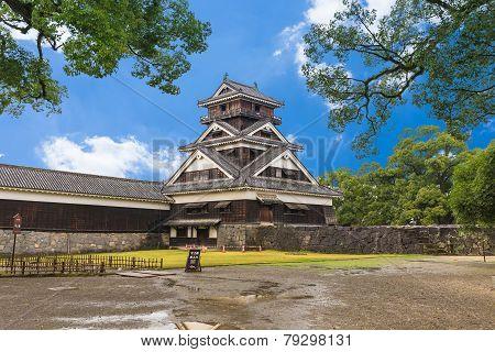 Kumamoto Castle In Northern Kyushu, Japan