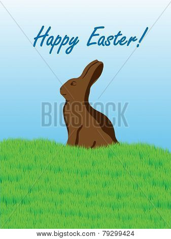 Easter Chocolate Bunny Card 2