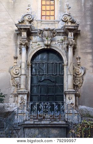 Door Decorated In Italian Barocco Style