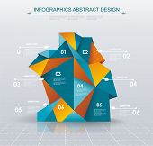 foto of step-up  - Business Infographics polygonal design style - JPG