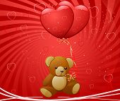 image of minion  - Teddy Bear with Hearts - JPG
