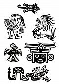 pic of american indian  - Vector set  - JPG