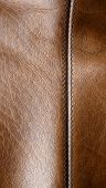 Seam On The Brown Leather
