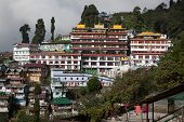stock photo of darjeeling  - Monumental Dali Monastery Darjeeling West Bengal - JPG