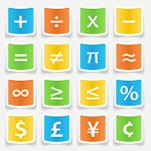 image of math  - Math symbol stickers web buttons - JPG