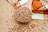 pic of doilies  - Buckwheat in a spoon - JPG