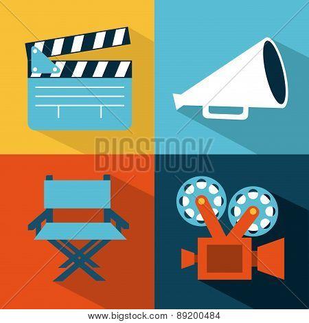 cinema design over colors background vector illustration