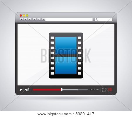internet media design over white  background vector illustration