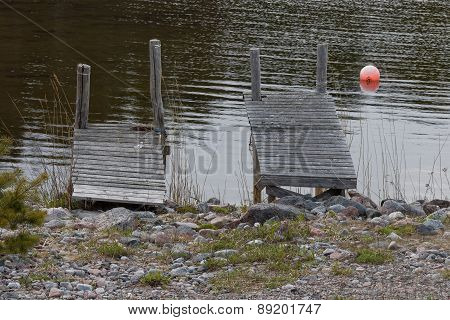 Two Small Bridges And A Buoy