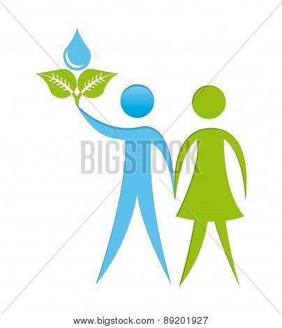 ecology design over  background vector illustration