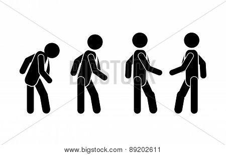 sign man desig over white background vector illustration