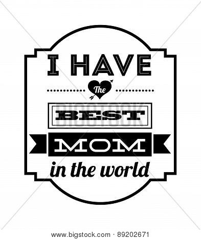 Happy mothers day card over white background vector illustration