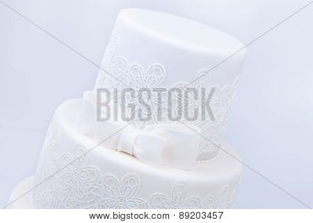 Delicious luxury ping wedding or birthday cake