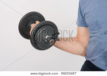 Hand Athlete With Dumbbell