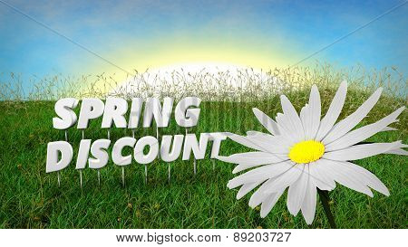 Spring Discount background template
