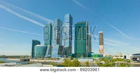 Modern High-rise Buildings In Central Moscow, Russia