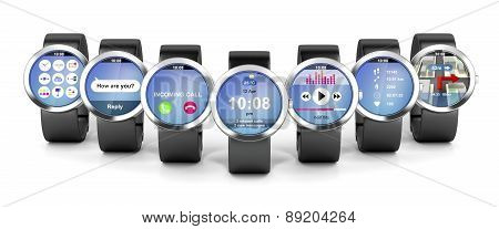 Group Of Smart Watches