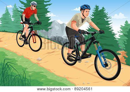 People Riding Mountain Bikes