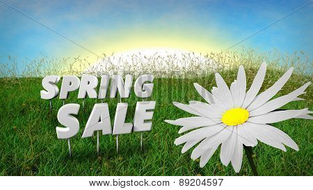Spring Sale discount background template