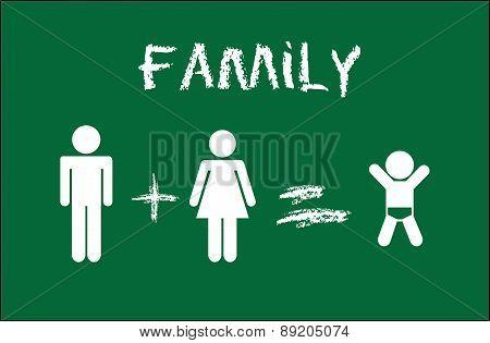 family design over green background vector illustration