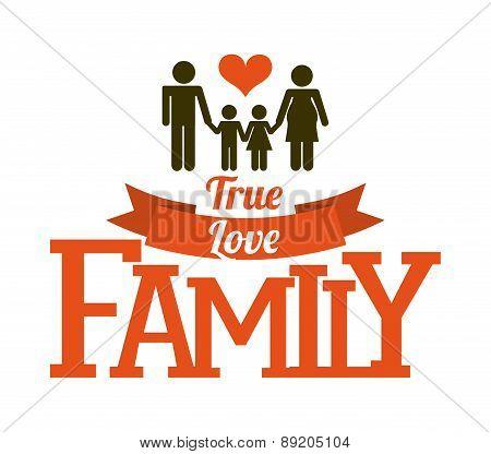 family design over  background vector illustration