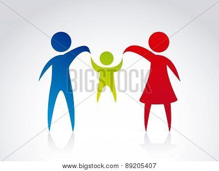 family design over gray background vector illustration