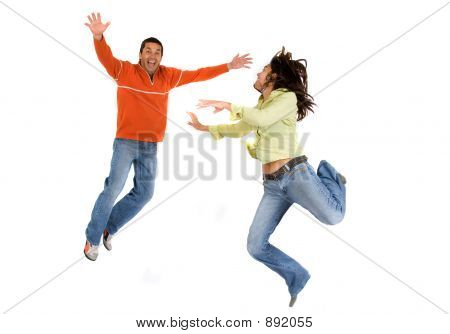 Couple Jumping 2