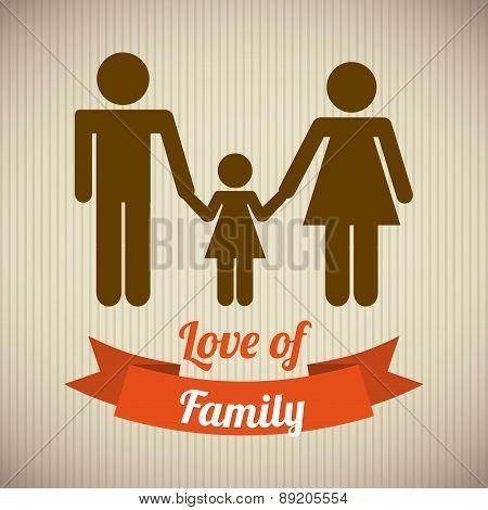 family design over vintage background vector illustration