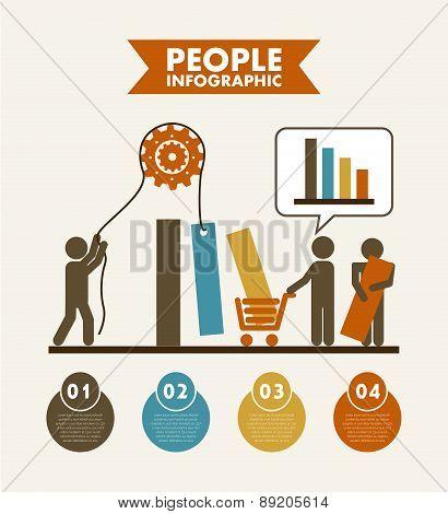 People design over beige background vector illustration