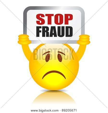 Stop fraud sign