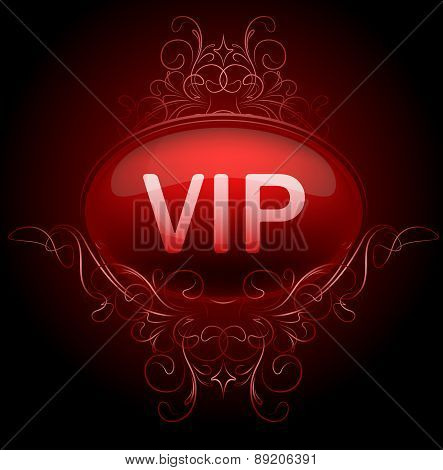 VIP design on a dark luxury background. Vector illustration.
