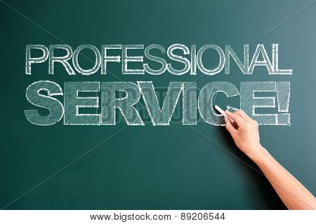writing professional service on blackboard