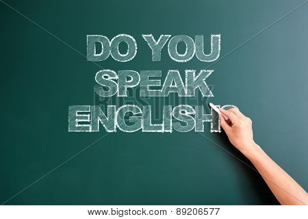 writing do you speak english on blackboard