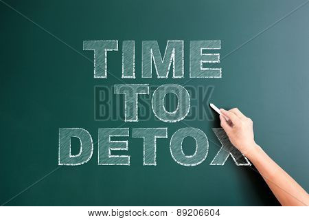 writing time to detox on blackboard