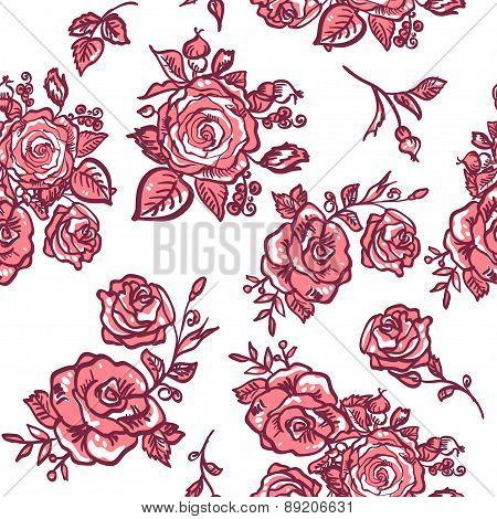 pattern pink rose