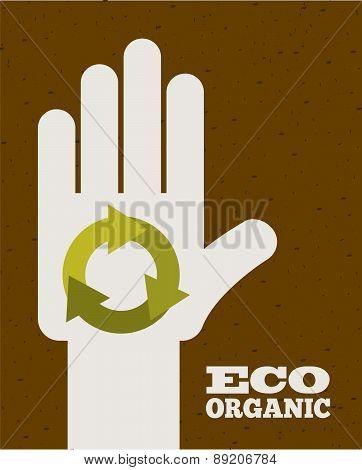 ecology design over brown background vector illustration